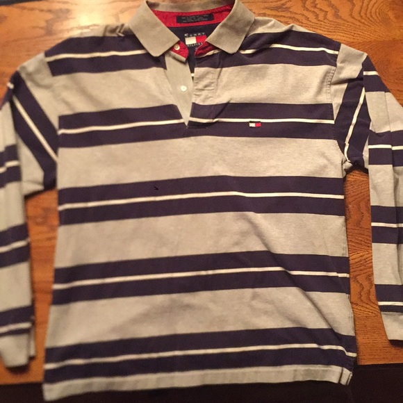 f7e08e9983a Tommy Hilfiger Shirts | Striped Rugby Shirt Size Xl | Poshmark